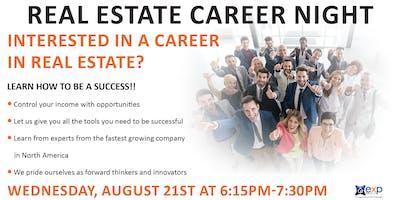 August Real Estate Career Night