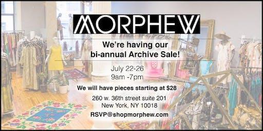 Morphew's Bi-Annual Archive Sale!