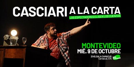 Casciari a la carta — MIÉ 9 OCT, Montevideo entradas