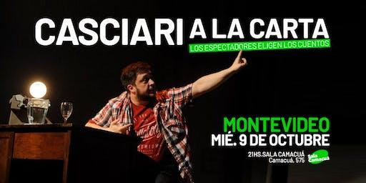 Casciari a la carta — MIÉ 9 OCT, Montevideo