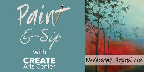 August Paint & Sip with CREATE tickets