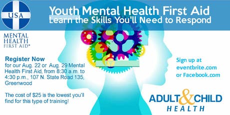 Youth Mental Health First Aid Training tickets