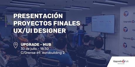 Presentación  proyectos finales UX/UI Designer Bootcamp entradas