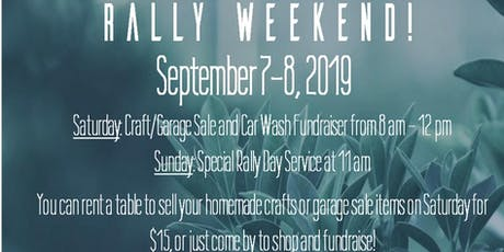 Rally Day Craft/Garage Sale (and Car Wash) tickets