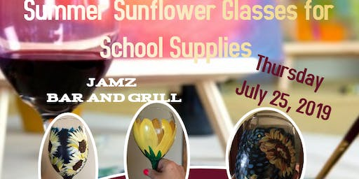 Summer Sunflower Glasses Sip and Paint