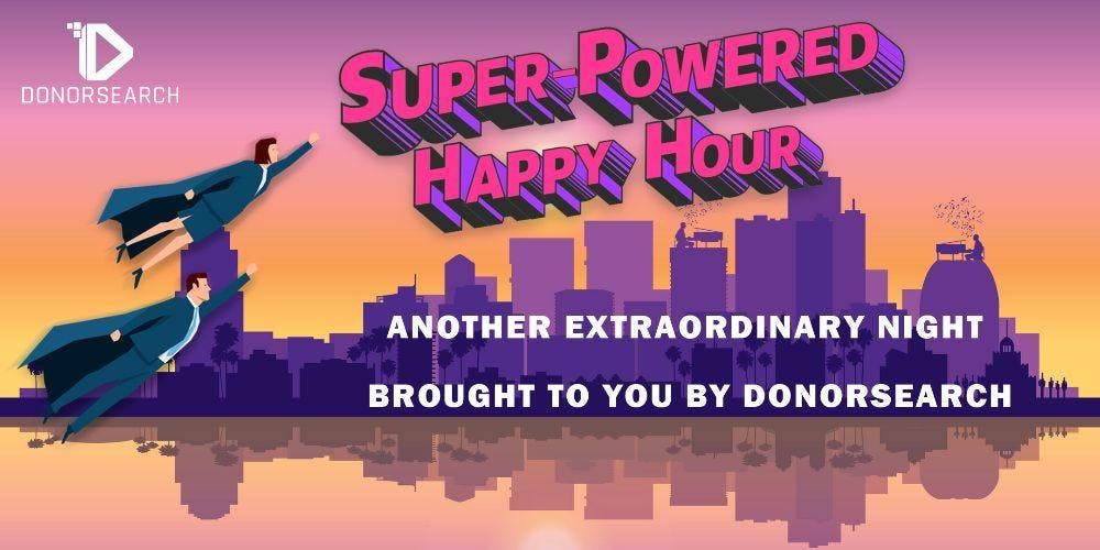 Super-Powered Happy Hour with DonorSearch!