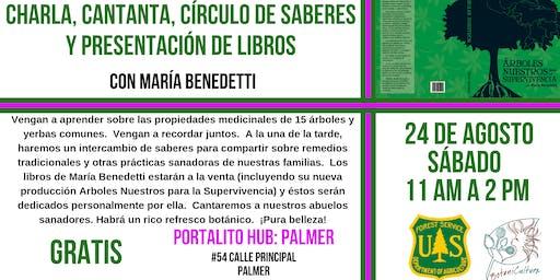 CHARLA, CANTANTA, CÍRCULO de SABERES y PRESENTACIÓN de LIBROS