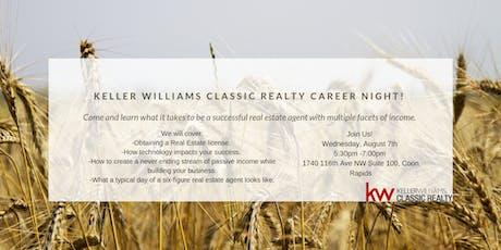 Keller Williams Classic Realty career night!  tickets