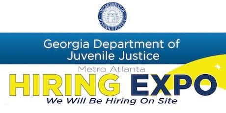 Georgia Department Of Juvenile Justice Hiring Event tickets