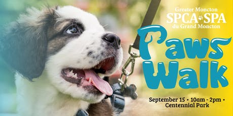 Greater Moncton SPCA Paws Walk tickets