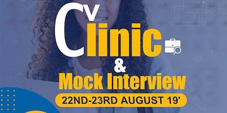 CV-CLINIC  & MOCK INTERVIEW tickets
