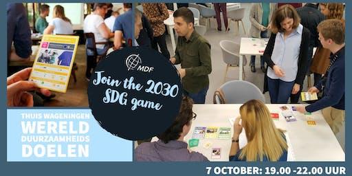 2030 SDG Game bij Thuis ... werk aan de werelddoelen!