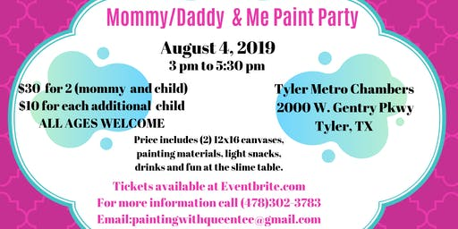Mommy/Daddy & Me paint Party