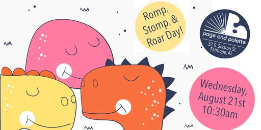 Romp, Stomp, and Roar Day at Page & Palette!