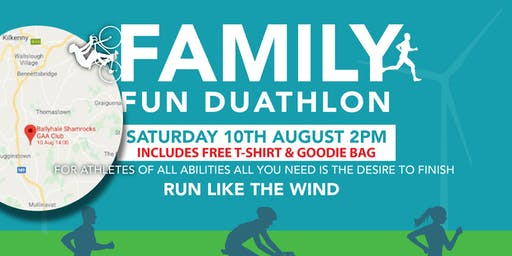 Ballyhale FamilyFunDuathlon - Saturday 10th August 2019