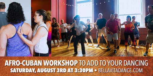 Afro-Cuban Workshop with Maylena to add to your Salsa Dancing