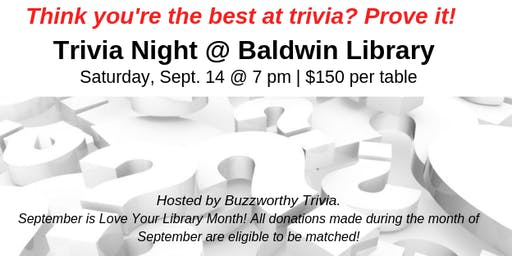 Trivia Night @ the Baldwin Library