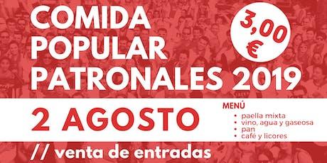COMIDA POPULAR #Patronales19 en Lodosa entradas