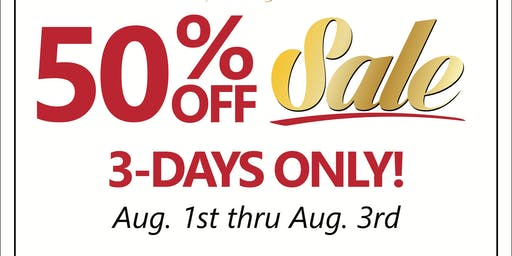 Annual 50% Off Jewelry Sale: 3 Days Only!