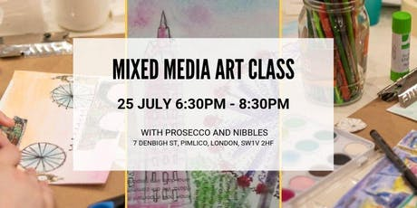 Mixed Media Art Class With Fizz tickets