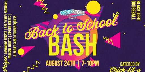 Cornerstone Students Back to School Blacklight Bash