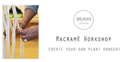 Macrame plant hanger workshop - beginner