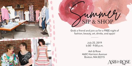 Ash & Rose - Summer Sip & Shop tickets