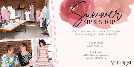 Ash & Rose - Summer Sip & Shop