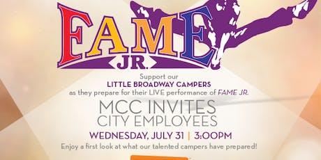 EMPLOYEE EVENT: Little Broadway Summer Camp Presents FAME JR.  tickets