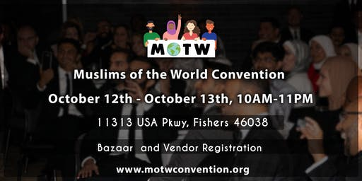 MOTW Convention | Bazaar & Vendor registration