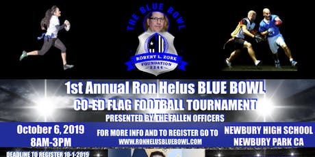 The Sgt. Ron Helus Blue Bowl Co-Ed Flag Football Tournament 10-6-19 tickets