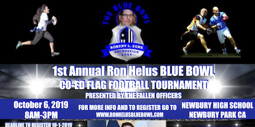 The Sgt. Ron Helus Blue Bowl Co-Ed Flag Football Tournament 10-6-19