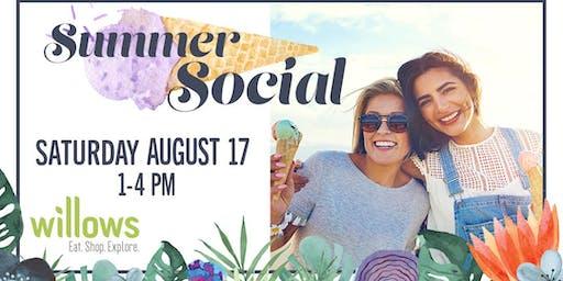 Summer Social at Willows Shopping Center