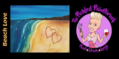 Painting Class - Beach Love - ALL AGES - August 3, 2019 tickets