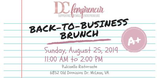 DCfempreneur Back-to-Business Brunch