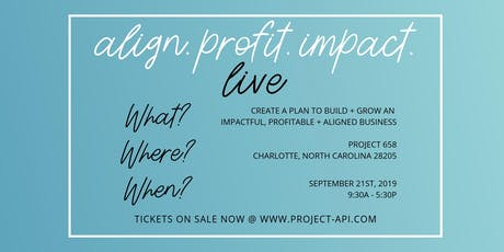 Align Profit Impact - LIVE tickets
