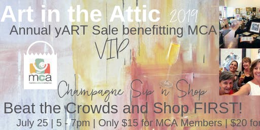 Sip & Shop - VIP Art in the Attic 2019 Reception