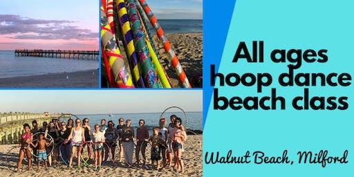 Hoop Dance Beach Class | Walnut Beach Milford | Fun Outdoor Fitness