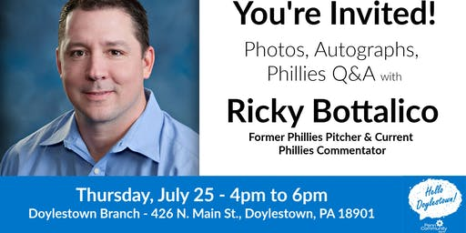 """Meet Ricky Bottalico - """"Hello Doylestown"""" Summer Series"""