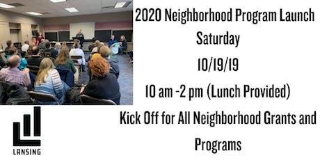 2020 Neighborhoods Program Launch tickets