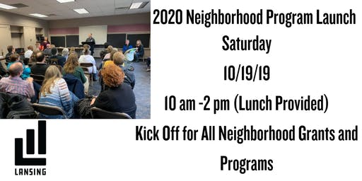 2020 Neighborhoods Program Launch