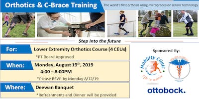 Orthotics & C-Brace Training Course 1 (PT board approved - 4 CEUs)