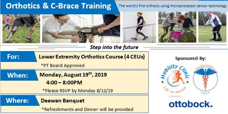 Orthotics & C-Brace Training Course 1 (PT board approved - 4 CEUs) tickets