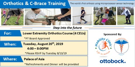 Orthotics & C-Brace Training Course 2 (PT board approved - 4 CEUs) tickets