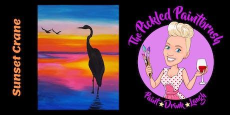 Painting Class - Sunset Crane - September 5, 2019 tickets