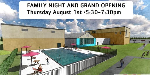 Family Night at Camp and Outdoor Pool Grand Opening