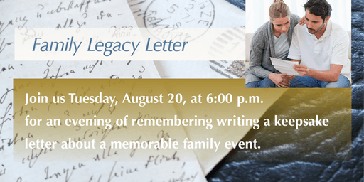 Family Legacy Letter—a Hearth & Soul and Legacy Letter Event