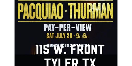 Pacquiao VS Thurman at RANDOS COMEDY STORE