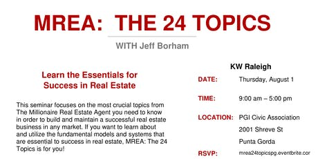 MREA: The 24 Topics - an FES Class w/ Jeff Borham tickets