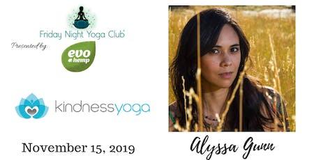 FNYC 11/15 at Kindness Yoga Broadway!  Alyssa Gunn is Teaching!  tickets